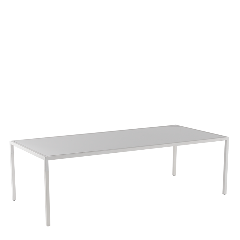 "Unico 8""x4"" Dining Table with White Frame"