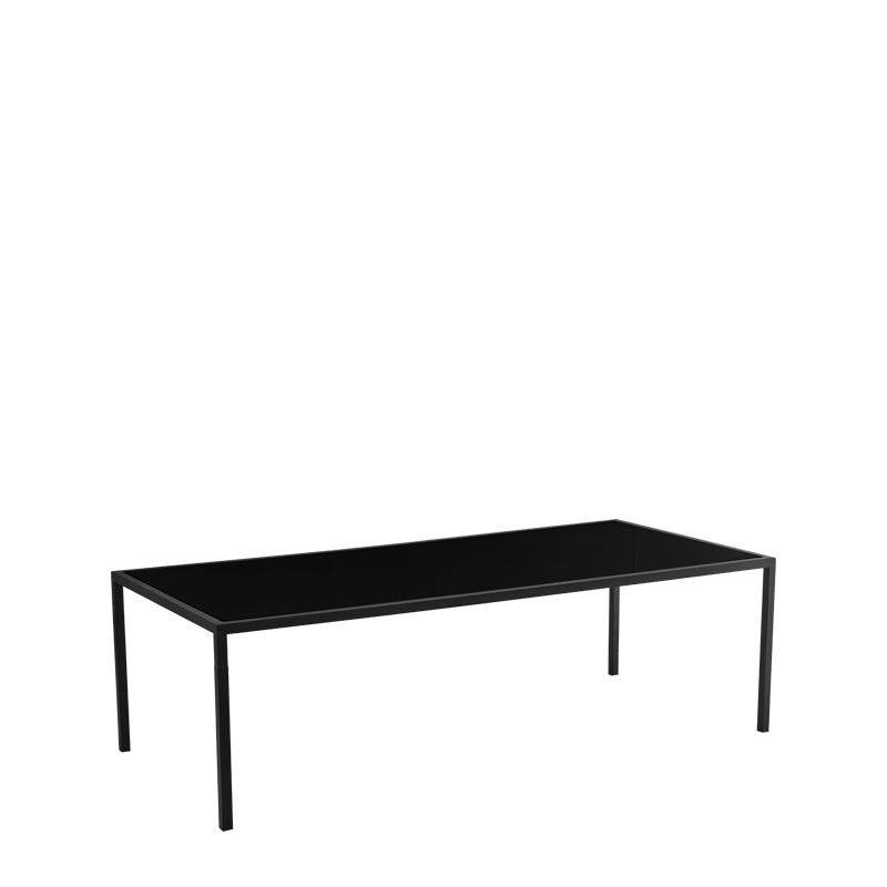 "Unico 8""x4"" Dining Table with Black Frame"