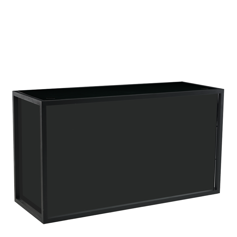 Unico Rectangular DJ Booth with Black Frame