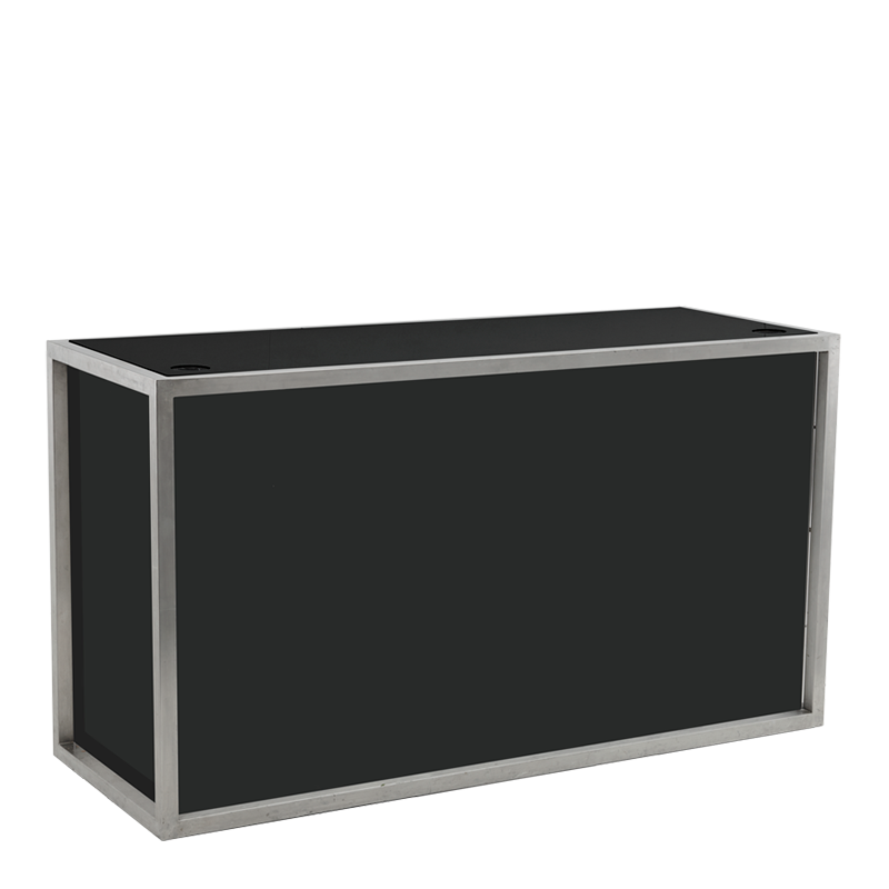 Unico DJ Booth with Stainless Steel Frame