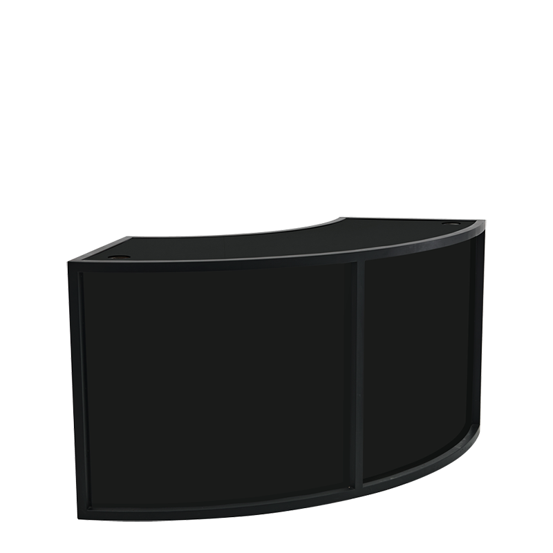 Unico Curved DJ Booth with Black Frame