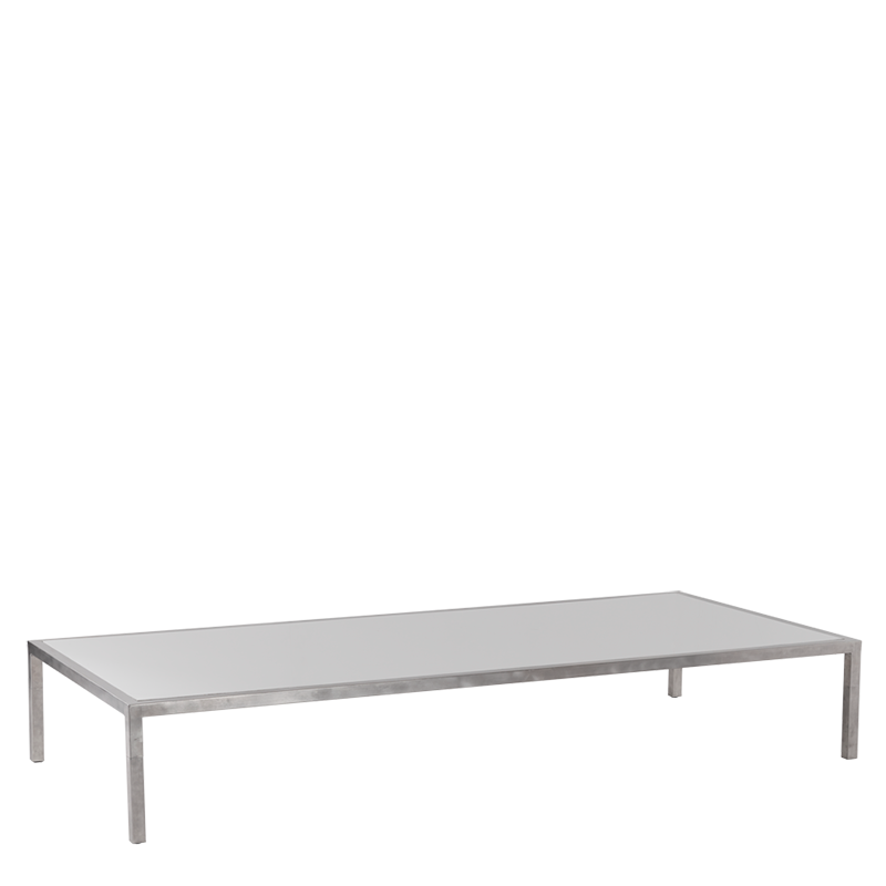 "Unico 8""x4"" Coffee Table with Stainless Steel Frame"