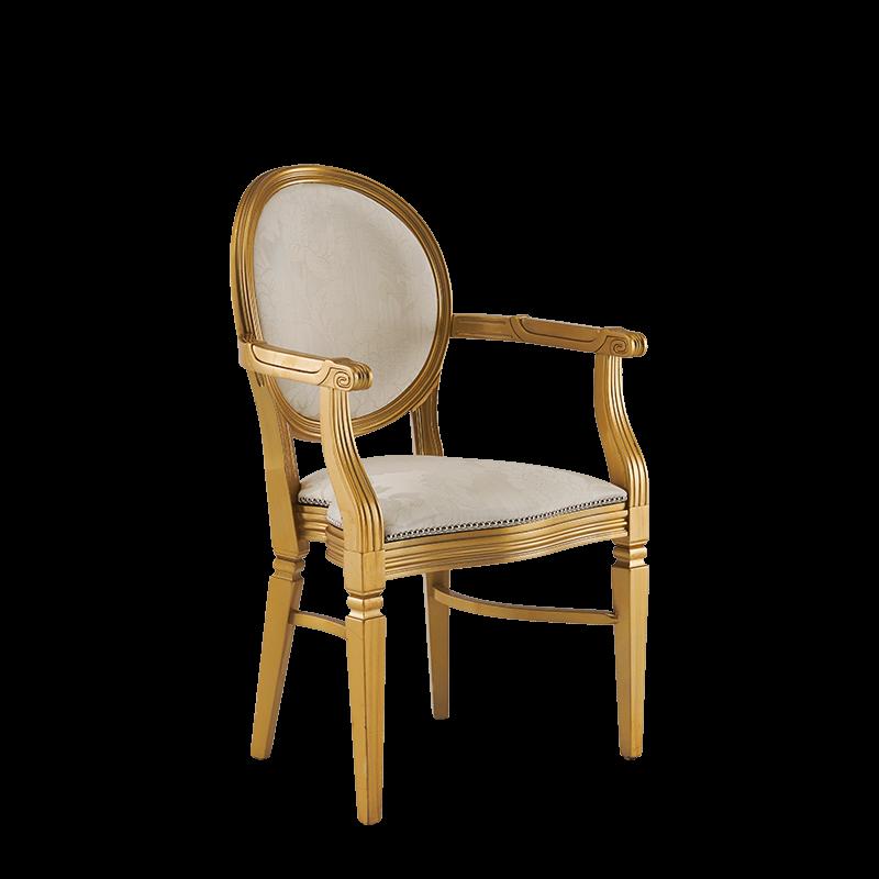 Chandelle Armchair in Gold