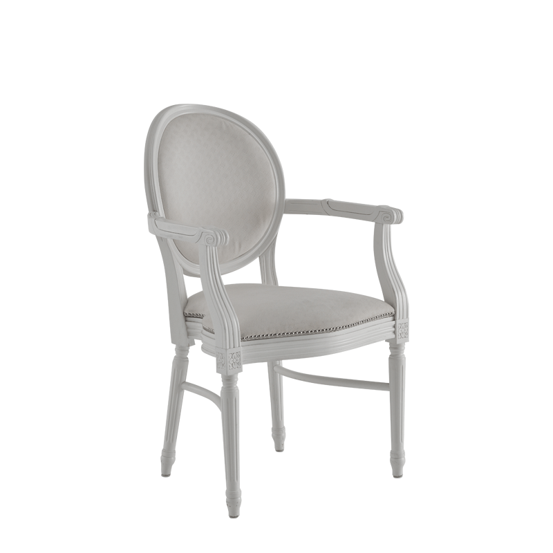 Chandelle Armchair in White