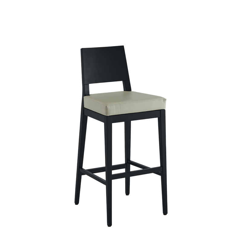 Porcino Bar Stool in Black