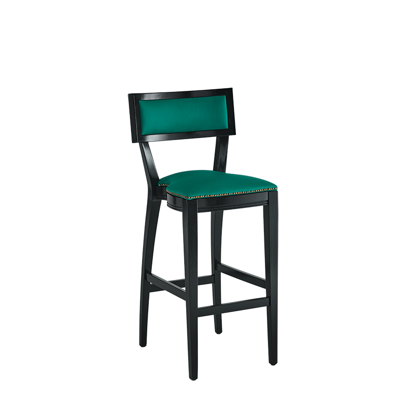 The Bogart Bar Stool in Black