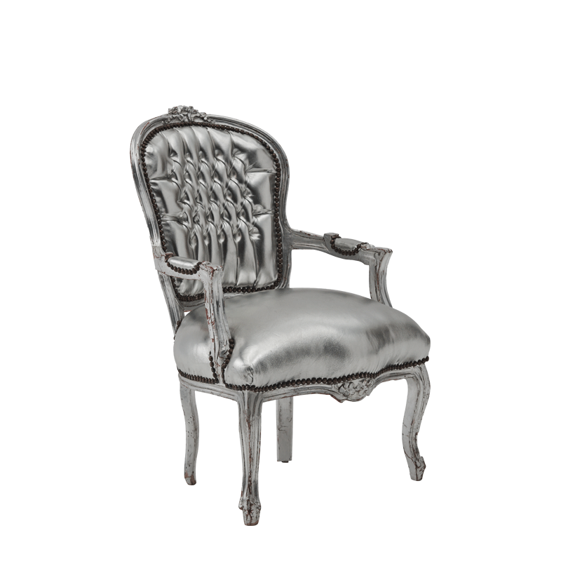 Louis Armchair in Silver
