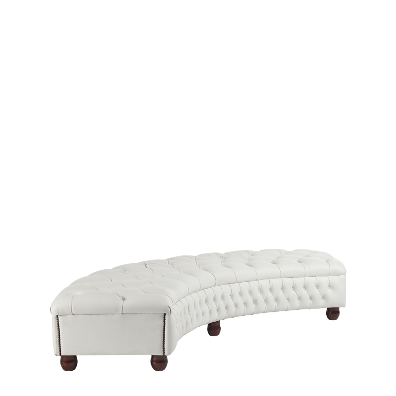 Chesterfield Curved Bench