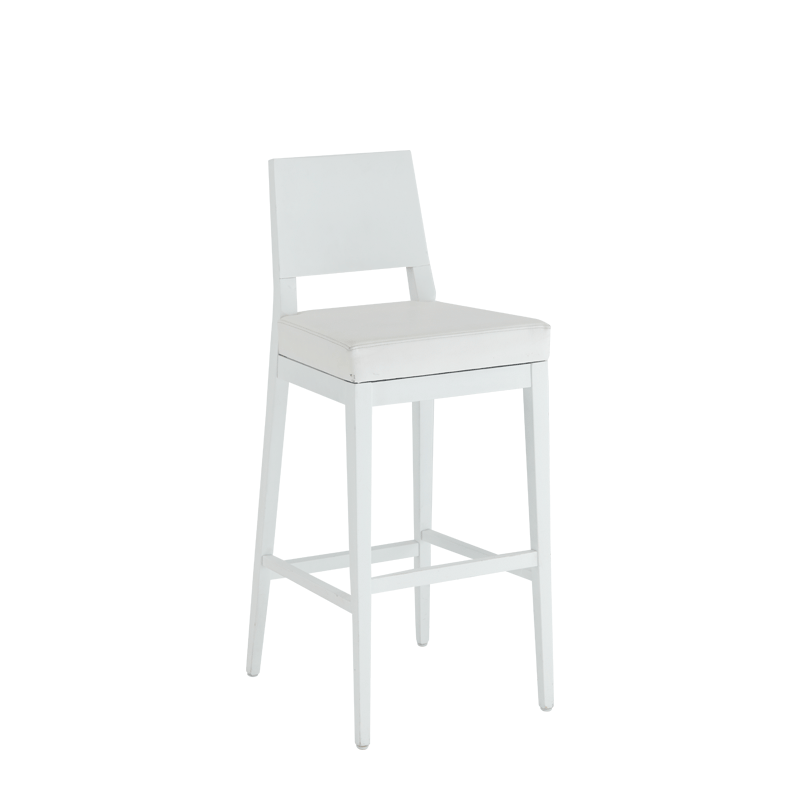 Porcino Bar Stool in White