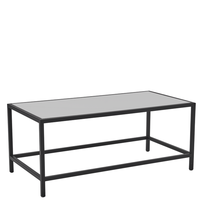 Unico Rectangular Coffee Table with Black Frame