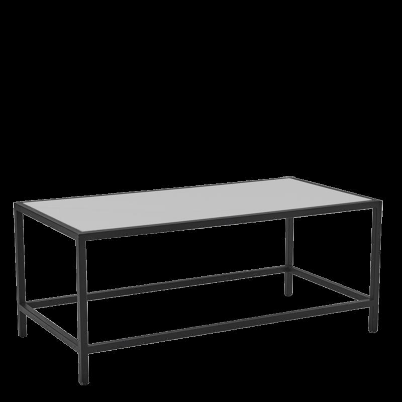 Unico Rectangular Coffee Table with Black Frame