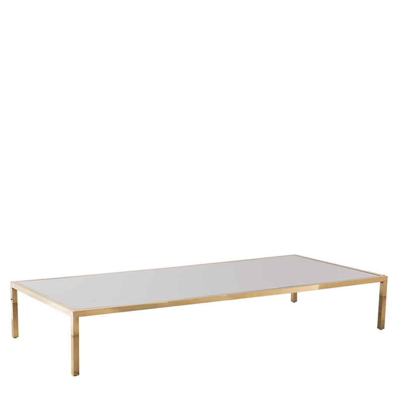 "Unico 8""x4"" Coffee Table with Gold Frame"