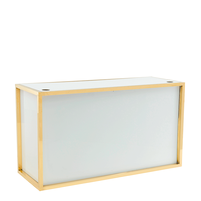 Unico Rectangular DJ Booth with Gold Frame