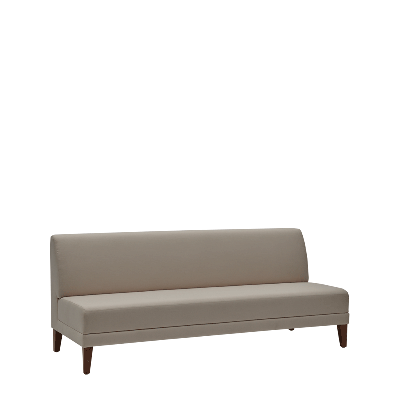 Sardinia Straight Smooth Back Sofa