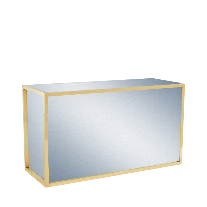 Unico Rectangular Bar with Gold Frame