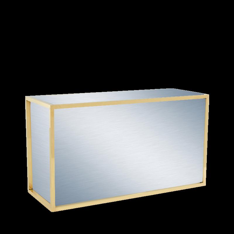 Unico Rectangular Bar with Gold Frame