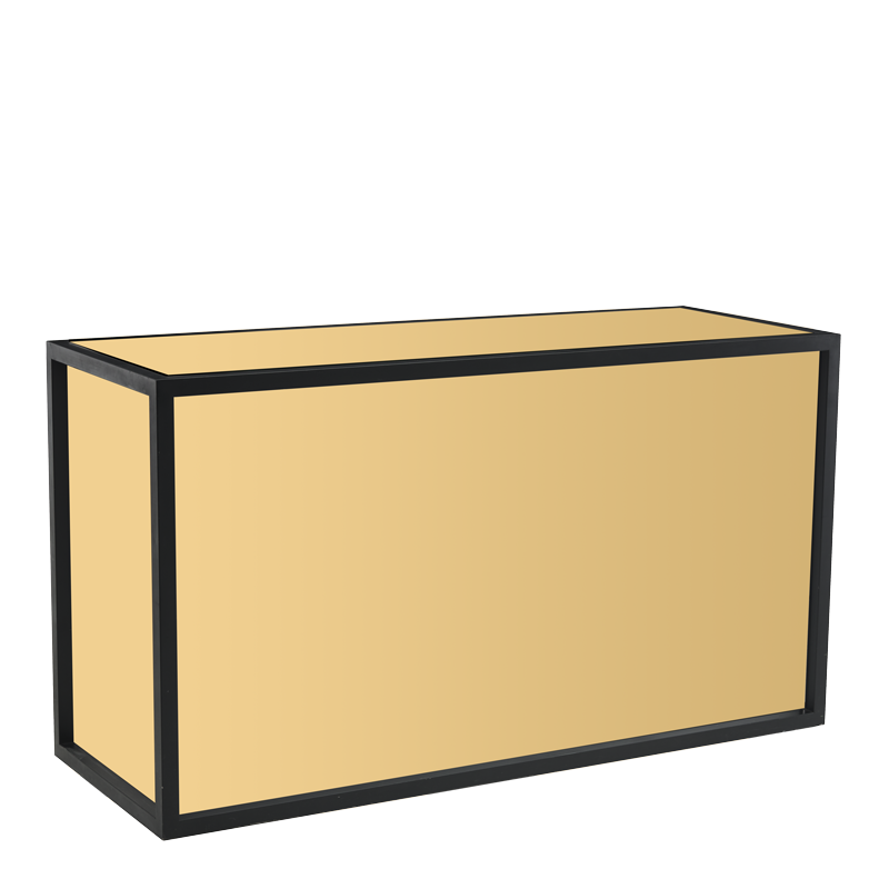 Unico Rectangular Bar with Black Frame