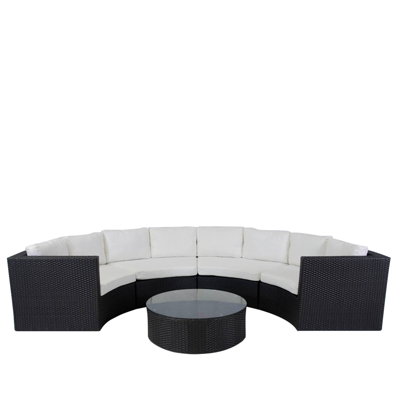 Bordeaux Sofa Set in Black