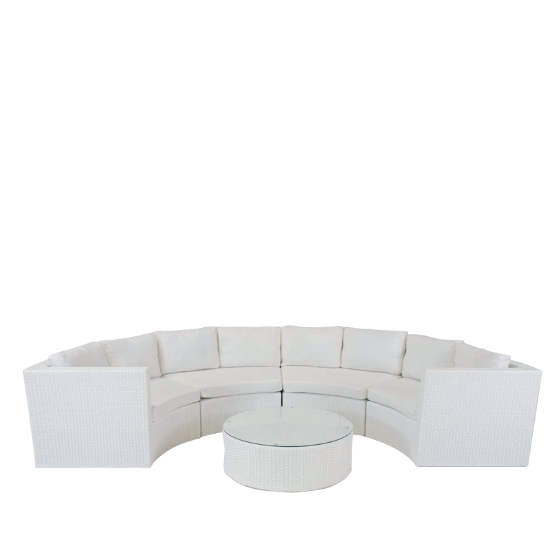 Bordeaux Sofa Set in White