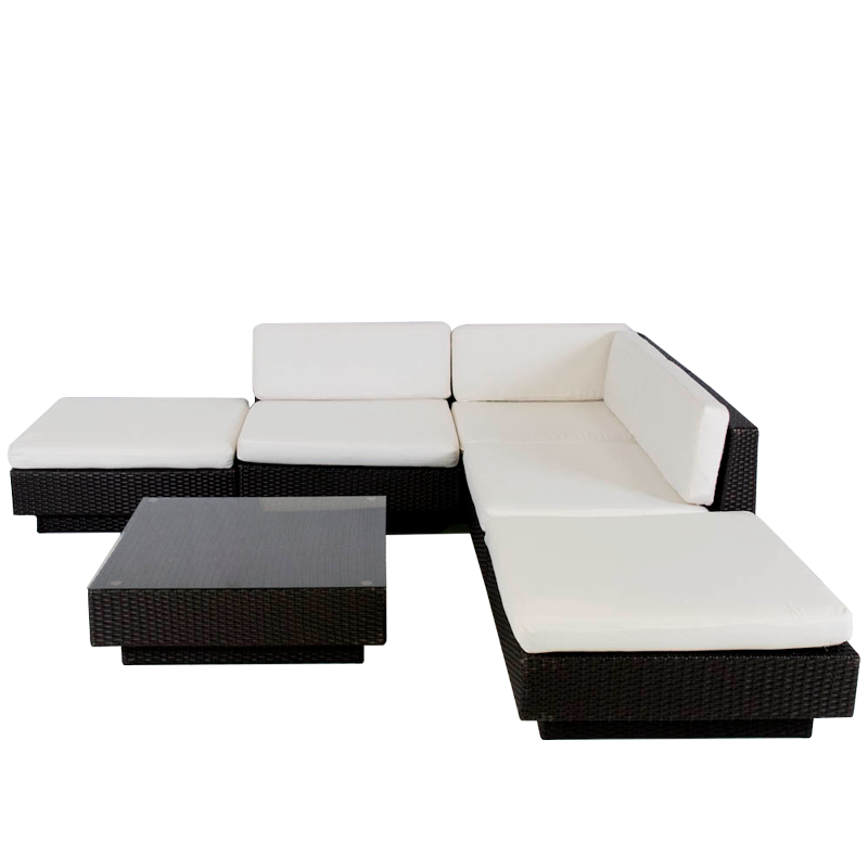 Marseille sofa set in Black