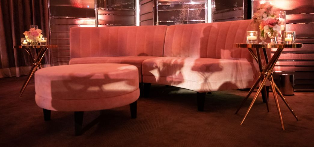 Gold and pink lounge